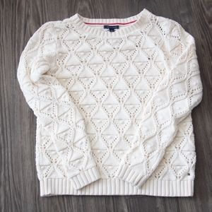 Tommy Hilfiger Women's M White Knit Sweater